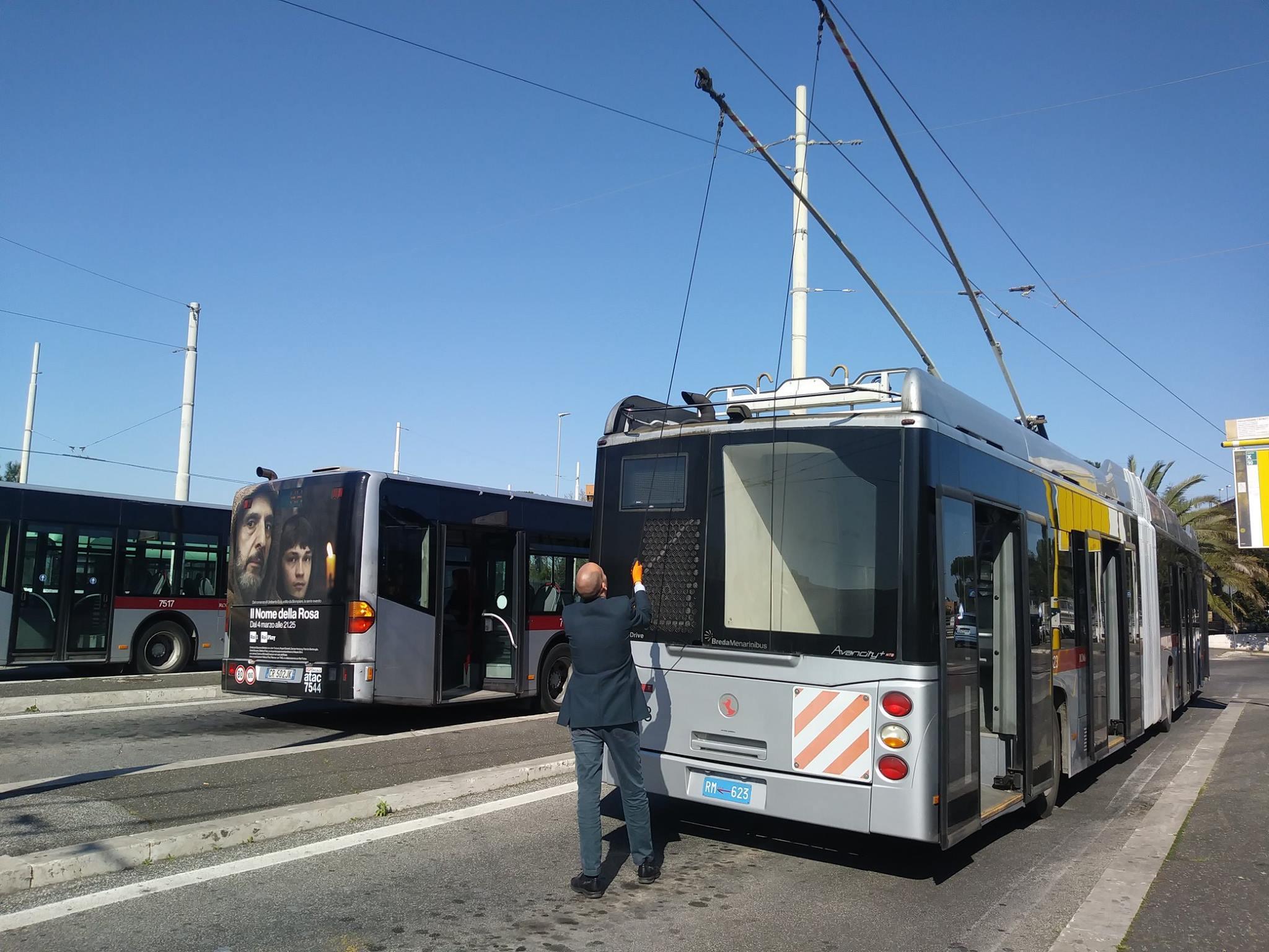 Římské trolejbusy na letošním snímku. (zdroj: ATAC)