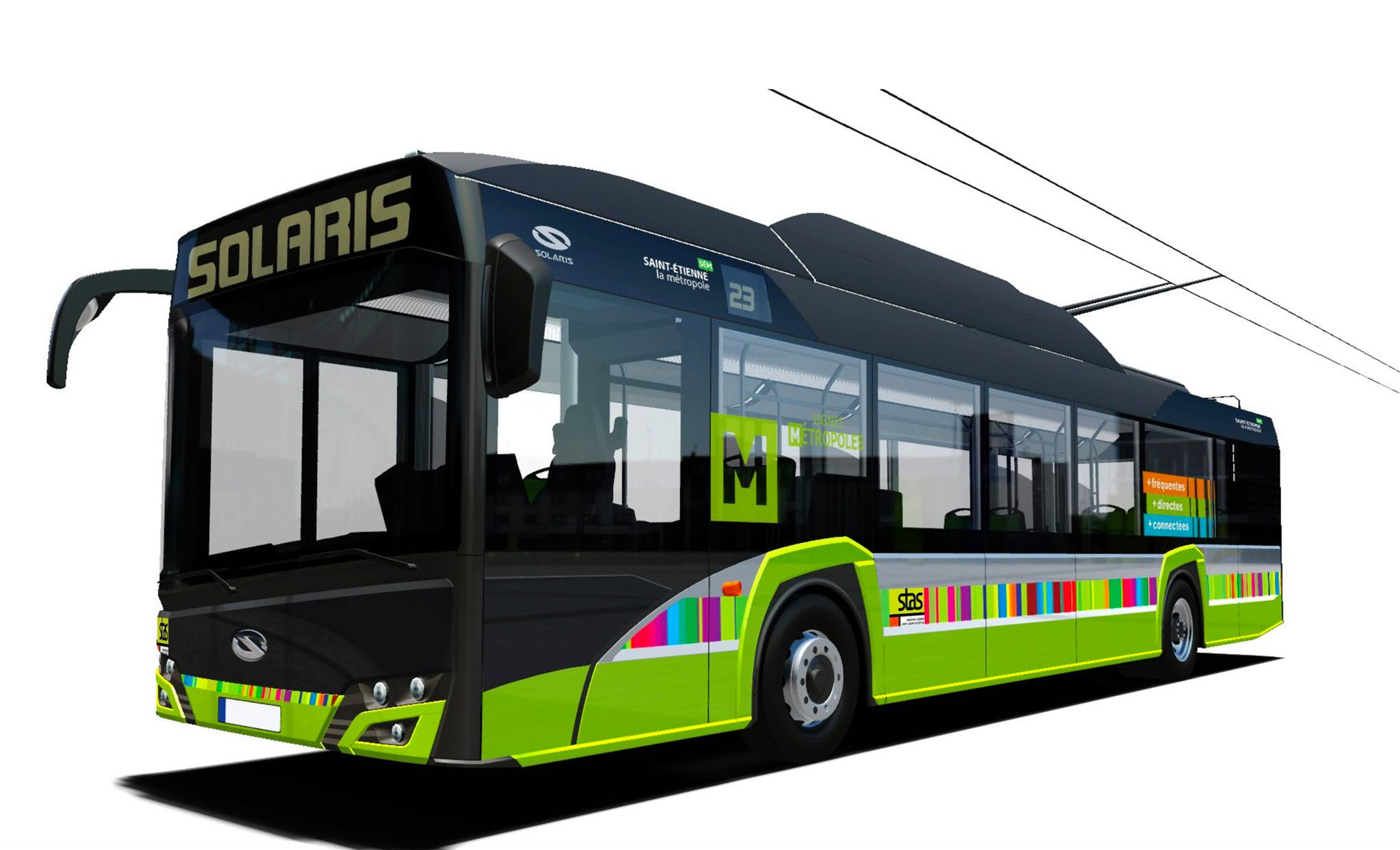 Nový trolejbus typu Trollino 12. (zdroj: Saint-Étienne Métropole)