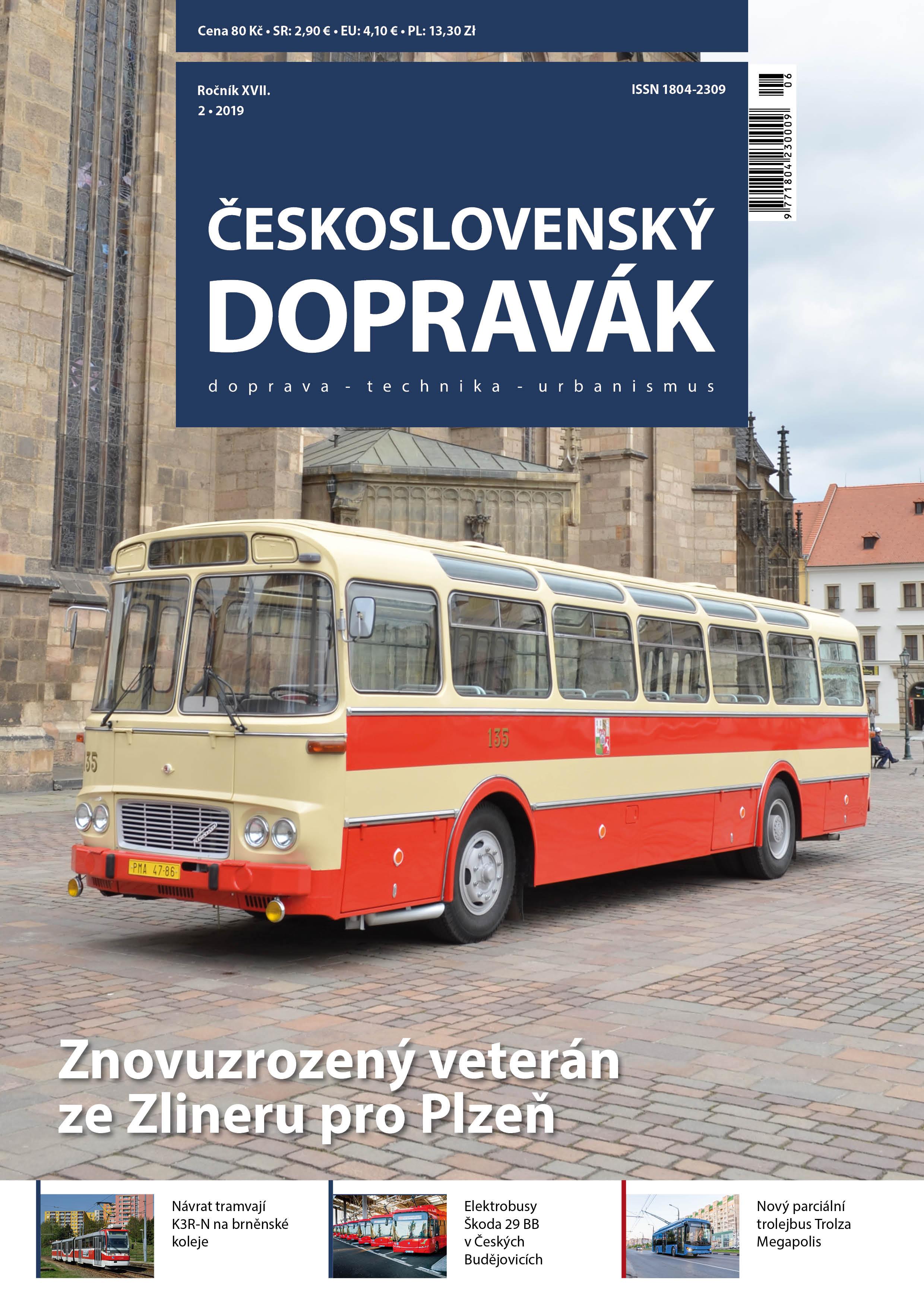 Titulní strana čísla 2/2019 časopisu Československý Dopravák. Obsah naleznete  zde .