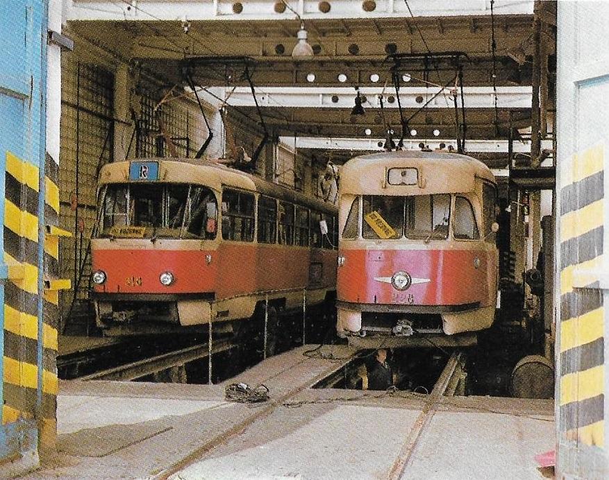 Ke výraznému zkvalitnění údržby vozidel pomohla nová vozovna na Bardejovské ulici. Těžkou údržbu ale DPMK dělal až do druhé poloviny 70. let v Ostravě. (foto: DPMK)