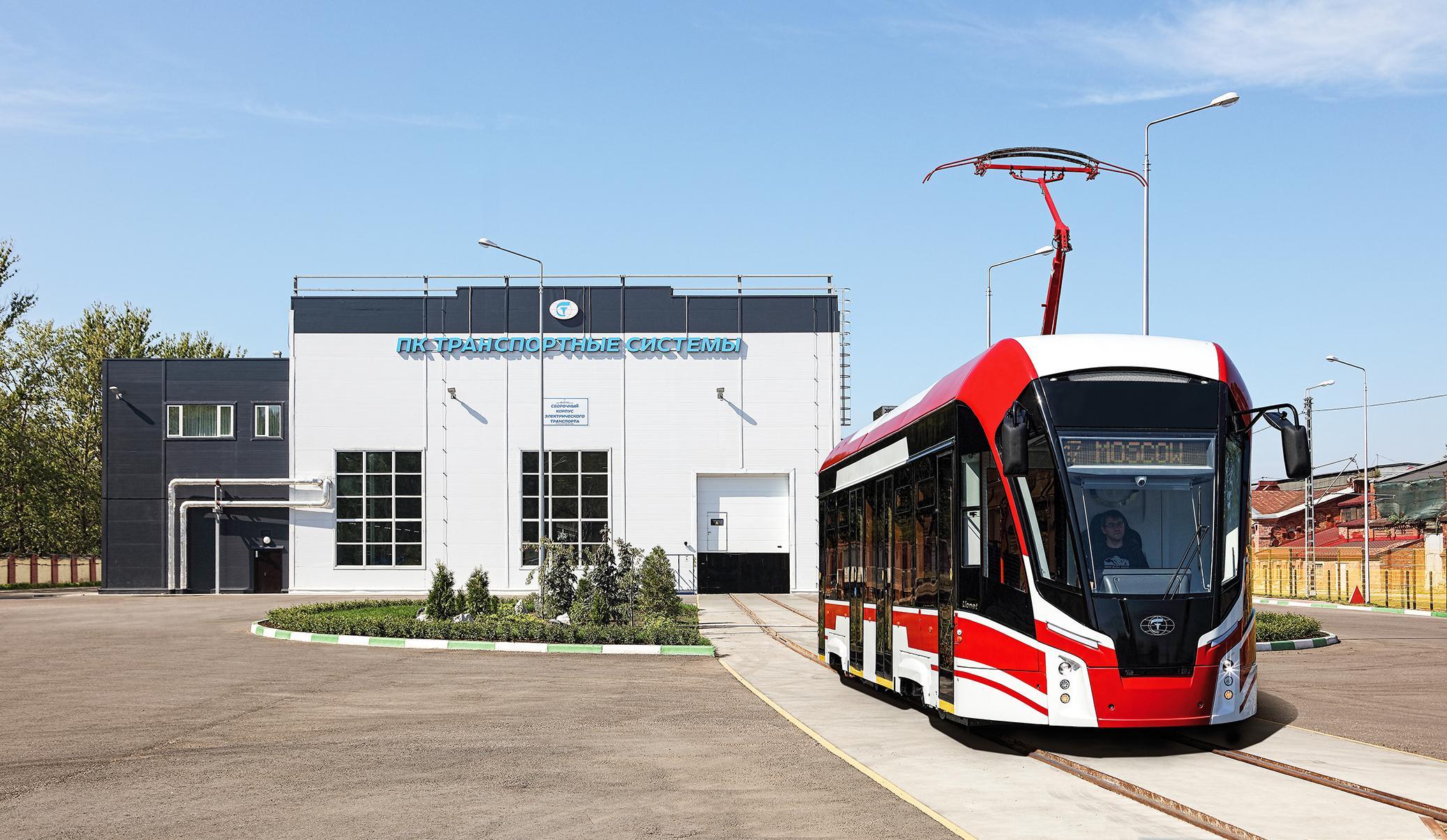 """Nová tramvaj """"Lvíček"""". Tramvaj je v interiéru značně moderní. (foto: Transportnyje Sistěmy)"""