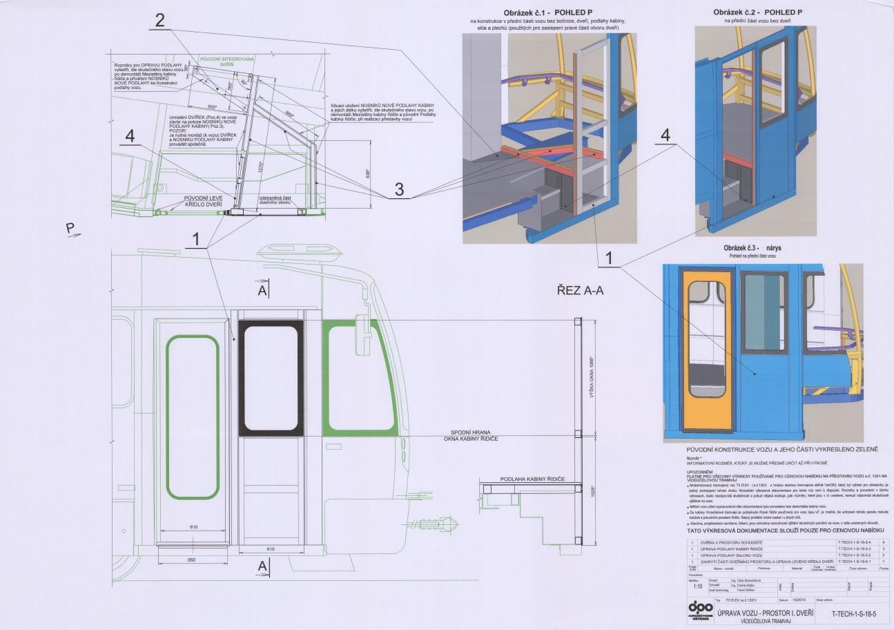 Návrh zaslepení předních dveří. (zdroj: DPO)