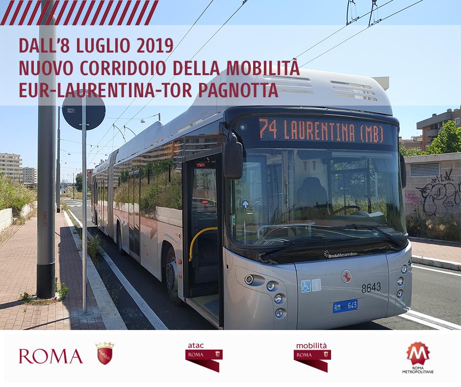 Zřejmě jediná dostupná oficiální fotografie, která lze v souvislosti se zavedením trolejbusů na novém BRT koridoru nalézt. (foto: Roma Capitale)