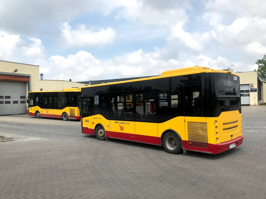 Celkem 24 vozidel ISUZU NovoCiti Life nalezneme ve službách DP v polské Lodži. (zdroj: TZ OAD Kolín)