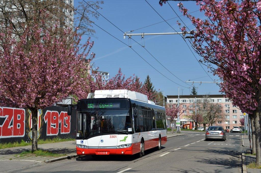 V současné době v Brně slouží 10 parciálních trolejbusů Škoda 26 Tr. (foto: Jiří Černý)