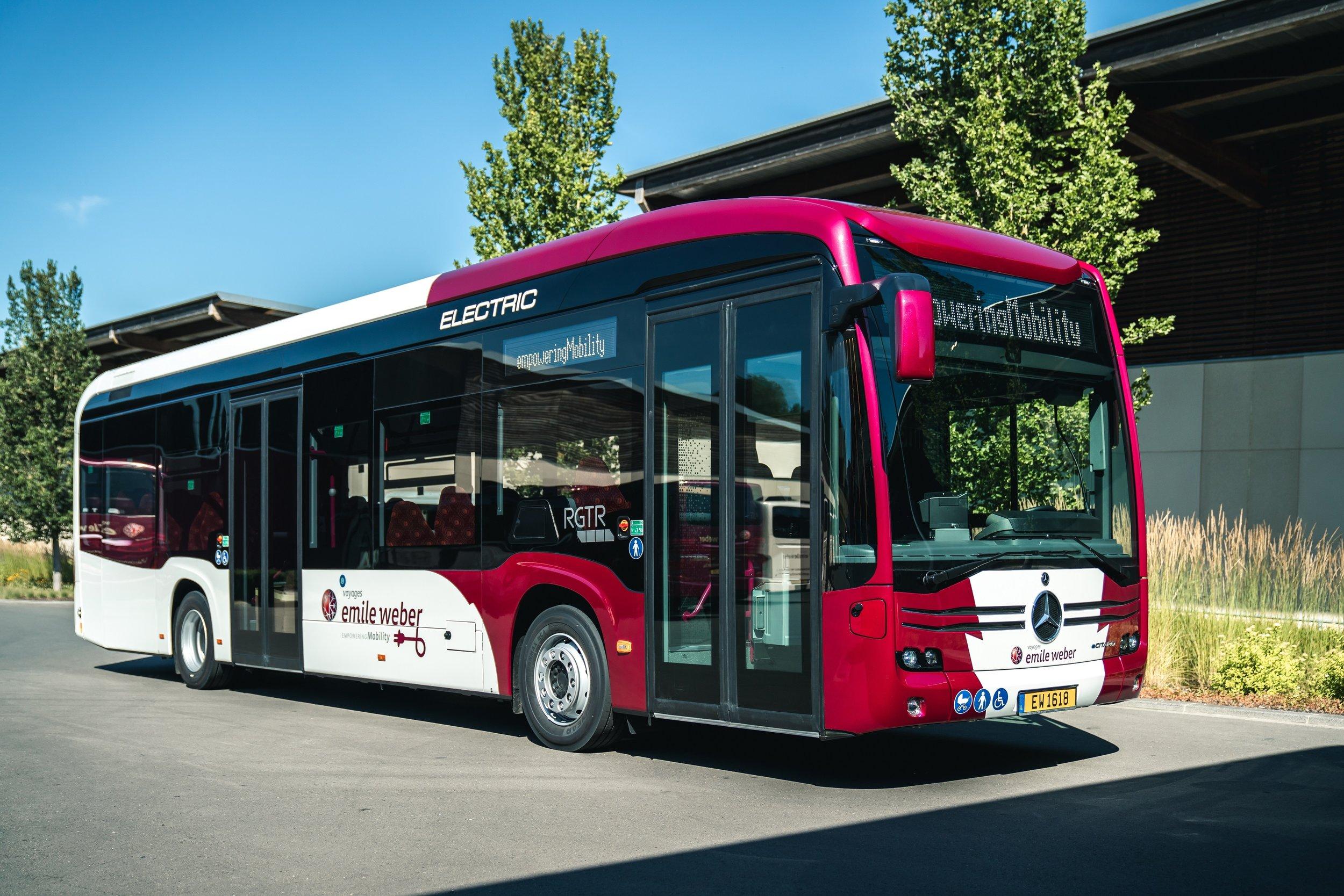 eCitaro pro Lucembursko ve dvoudveřovém provedení. (foto: Daimler Buses)