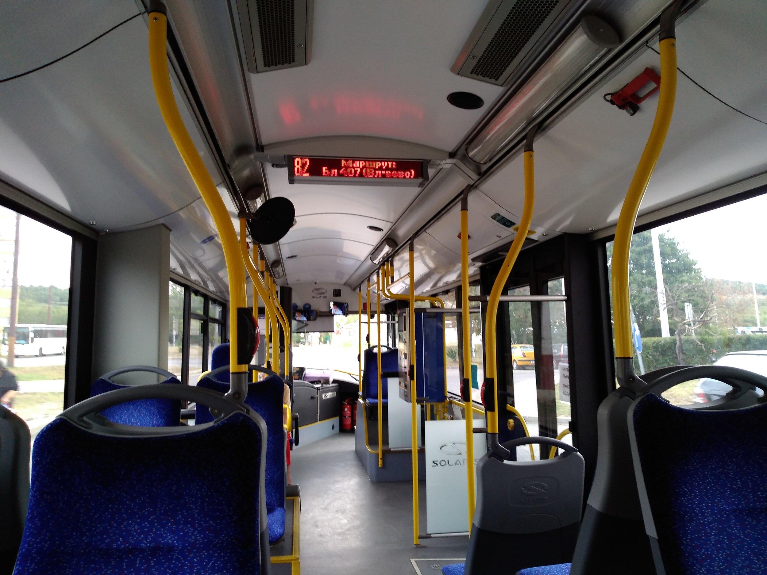 Interiér trolejbusů je i po pěti letech čistý.
