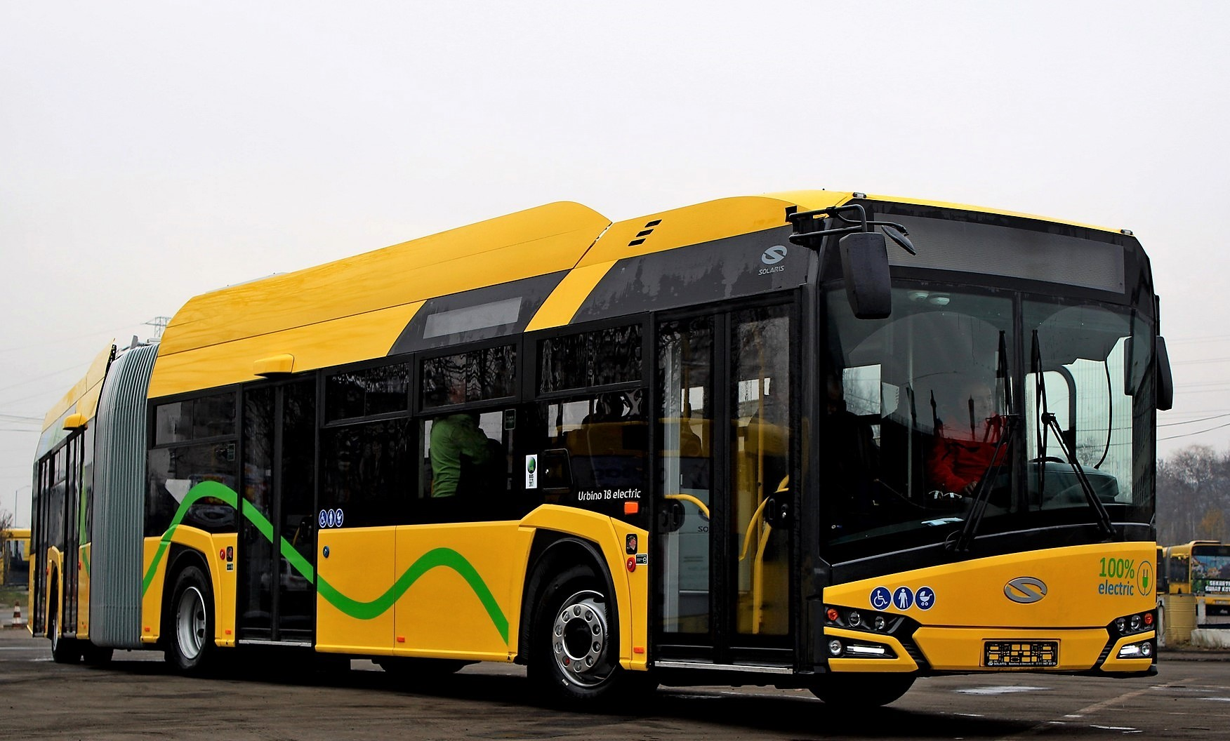 Autobus Solaris Urbino 18 electric dodaný do Katovic počátkem letošního roku. (foto: Solaris Bus & Coach)