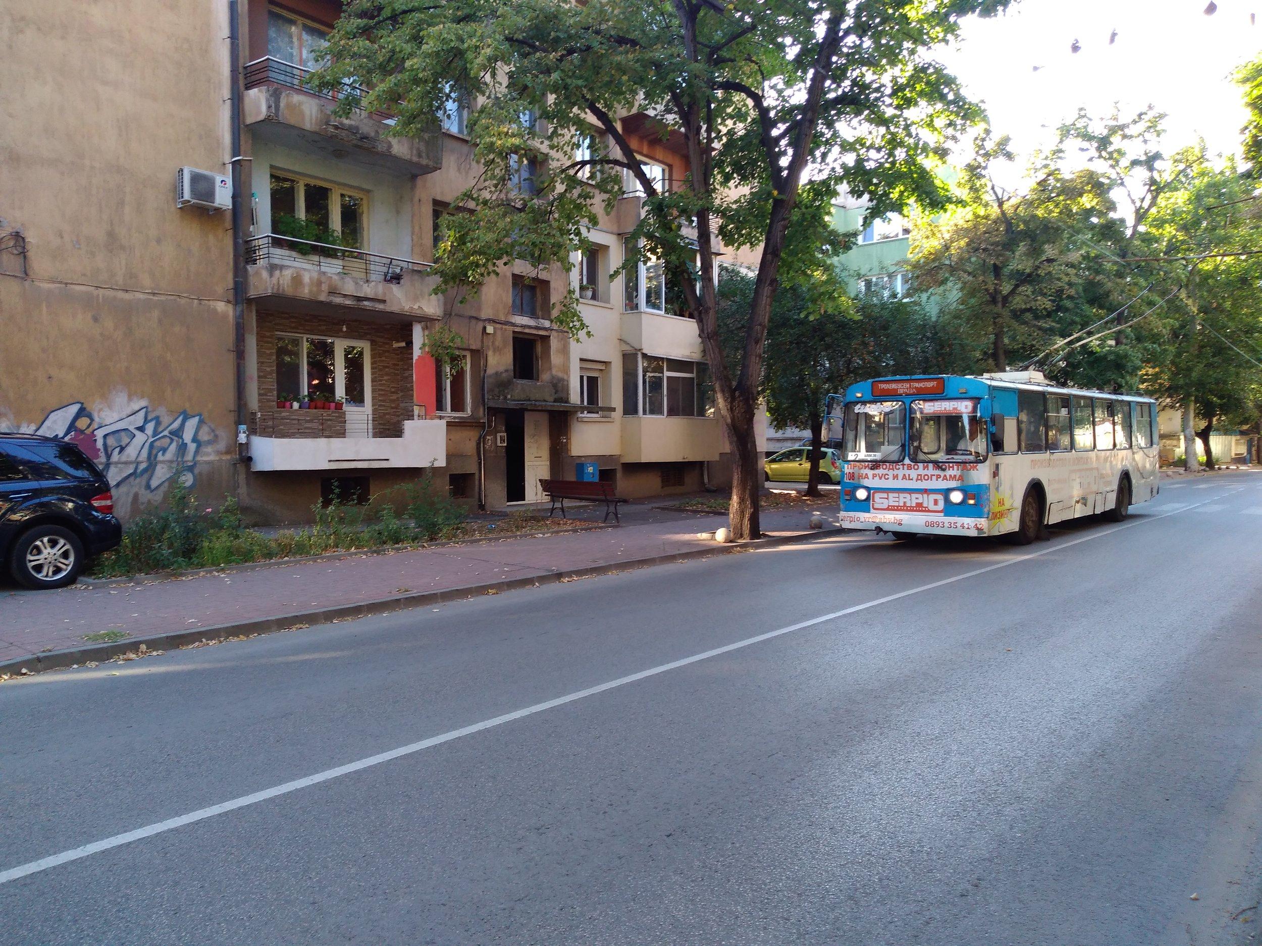 Trolejbus u centra.