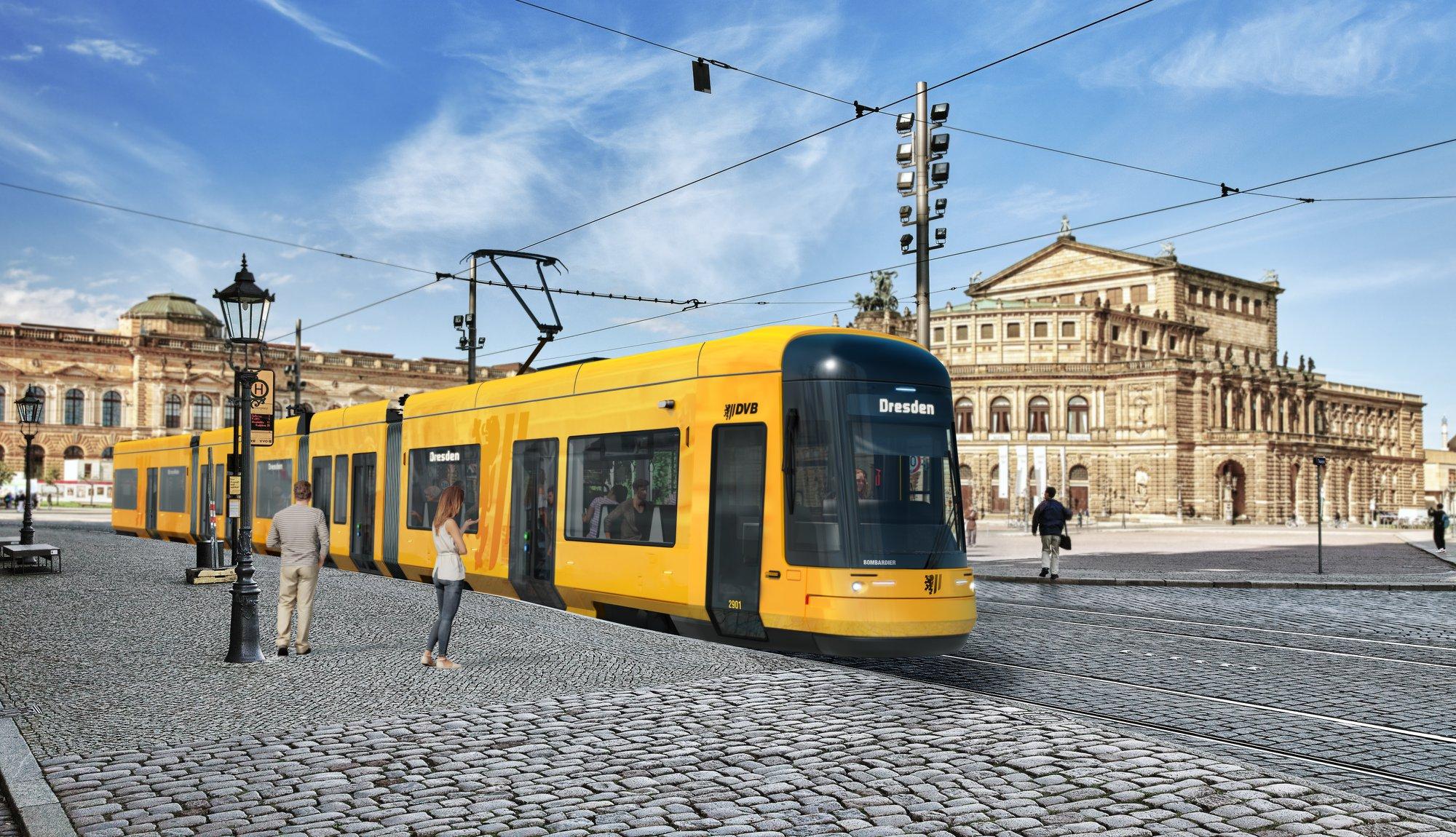 Takhle by měly nové tramvaje pro Drážďany vypadat. (zdroj: DVB AG)