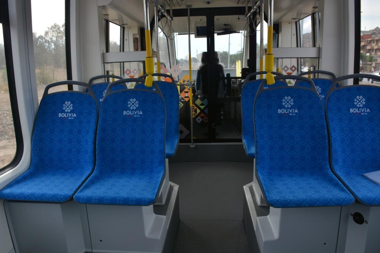 Interiér tramvaje. (foto: Gobierno Autónomo Departamental de Cochabamba)
