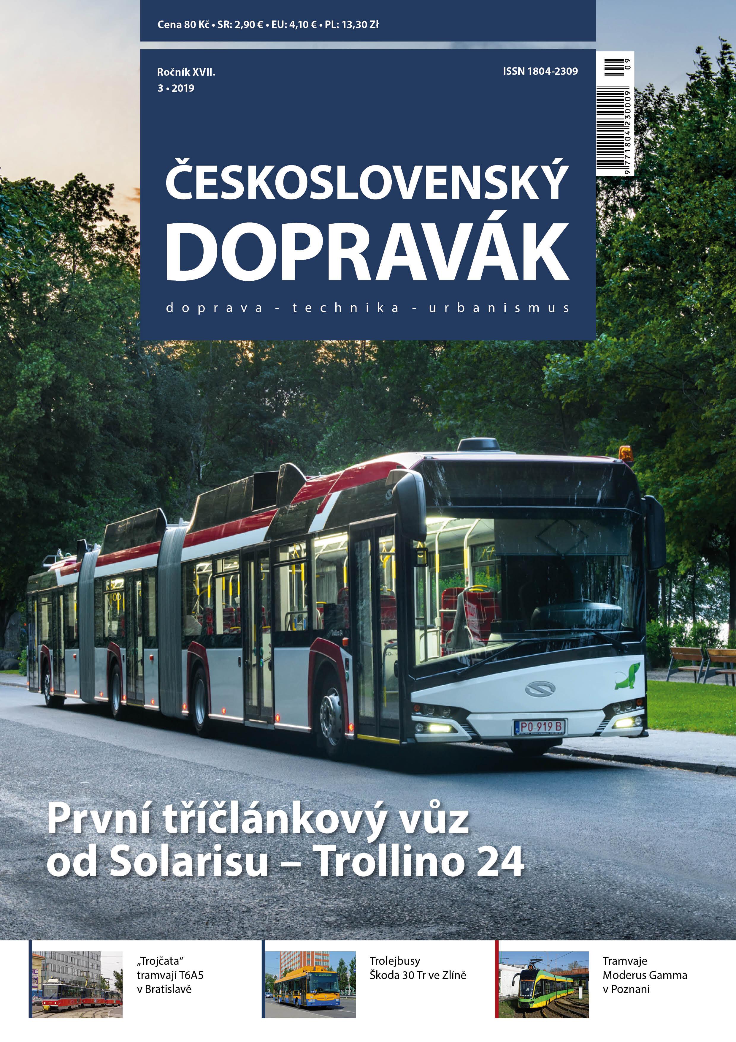 Titulní strana časopisu 3/2019. Obsah naleznete  pod tímto odkazem . (foto: ČS Dopravák)