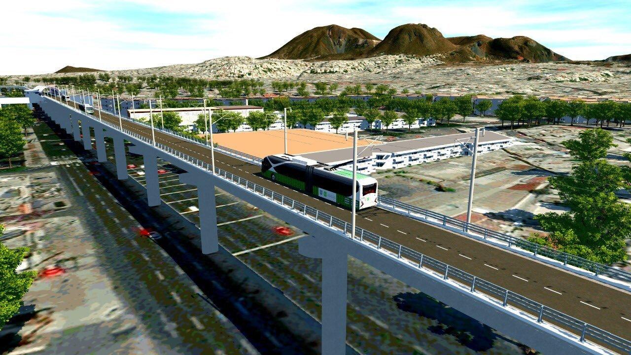 Vizualizace nového koridoru. (zdroj: Gobierno de la Ciudad de México)