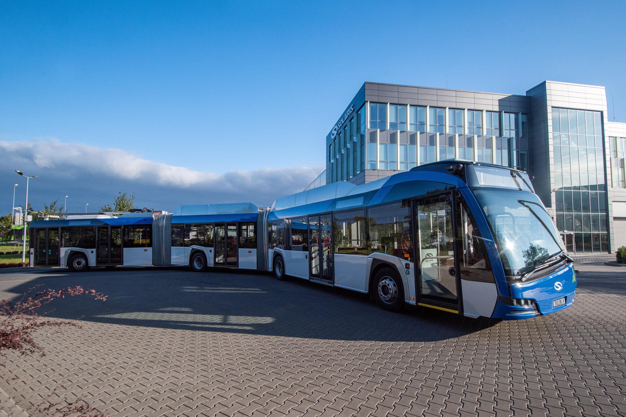 Trolejbus Trollino 24 s upraveným designem. (foto: Solaris Bus & Coach)