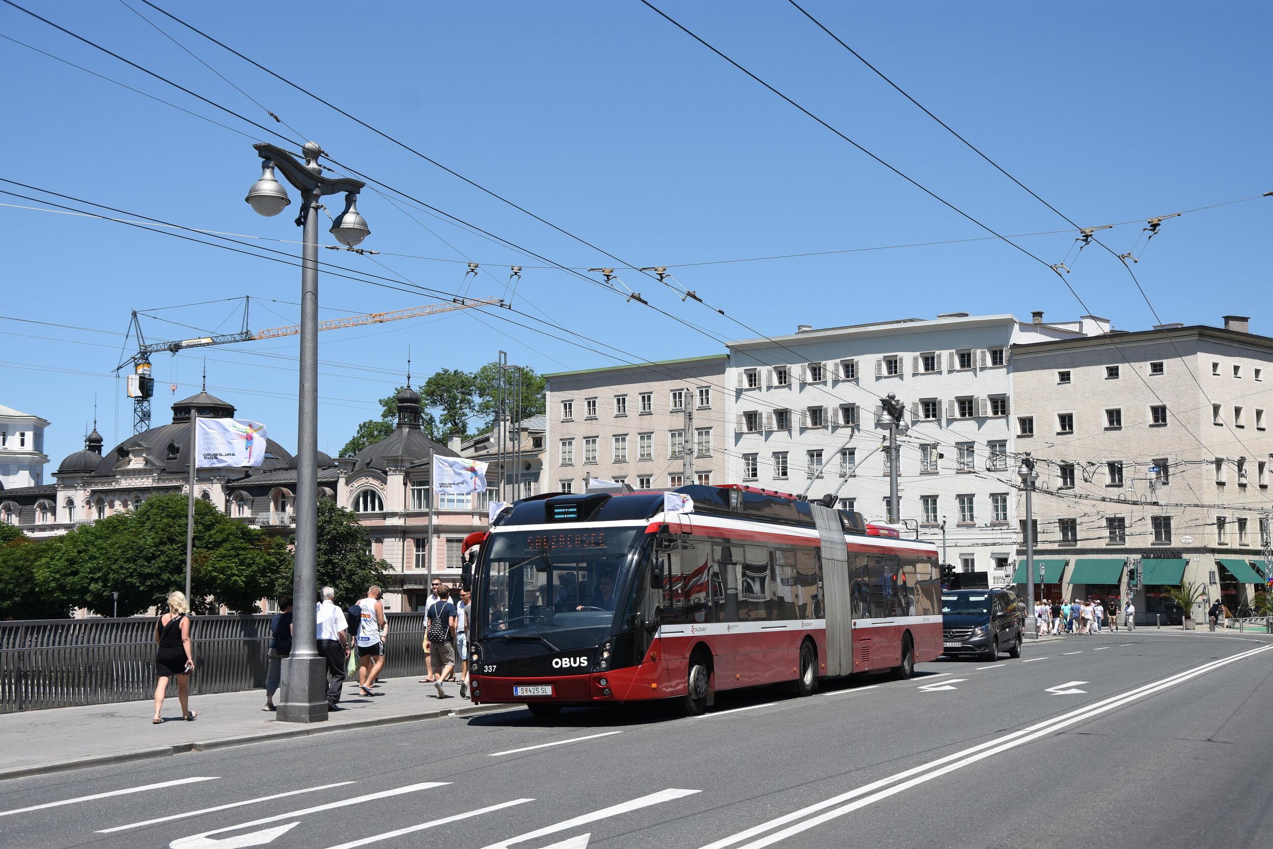 Původní vzhled MetroStylu na trolejbuse v Salzburgu. (foto: Libor Hinčica)