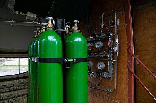 Tlakové lahve. (foto: Gorelektrotrans)
