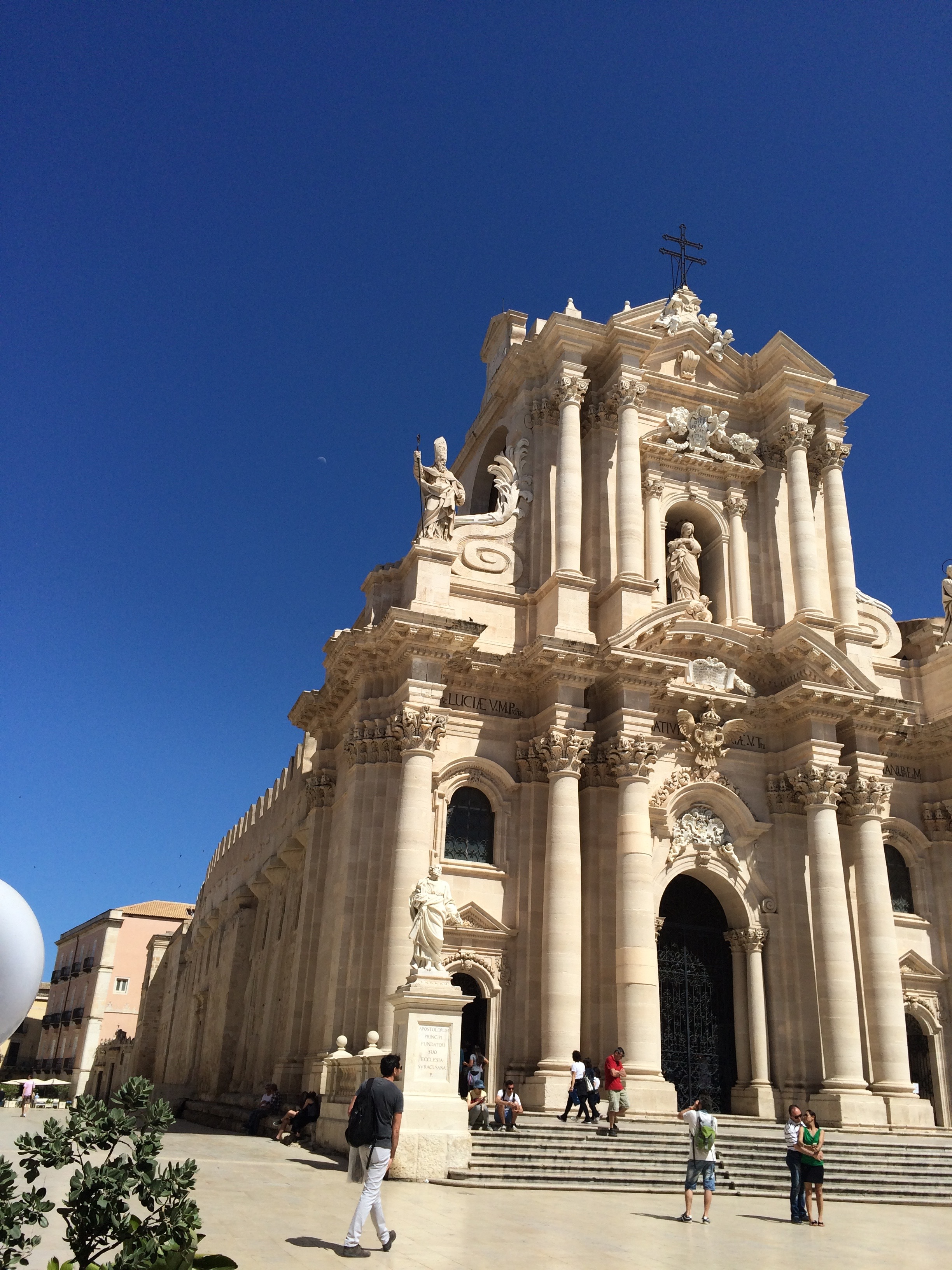 The Duomo in Ortygia - a synopsis of Sicilian history.