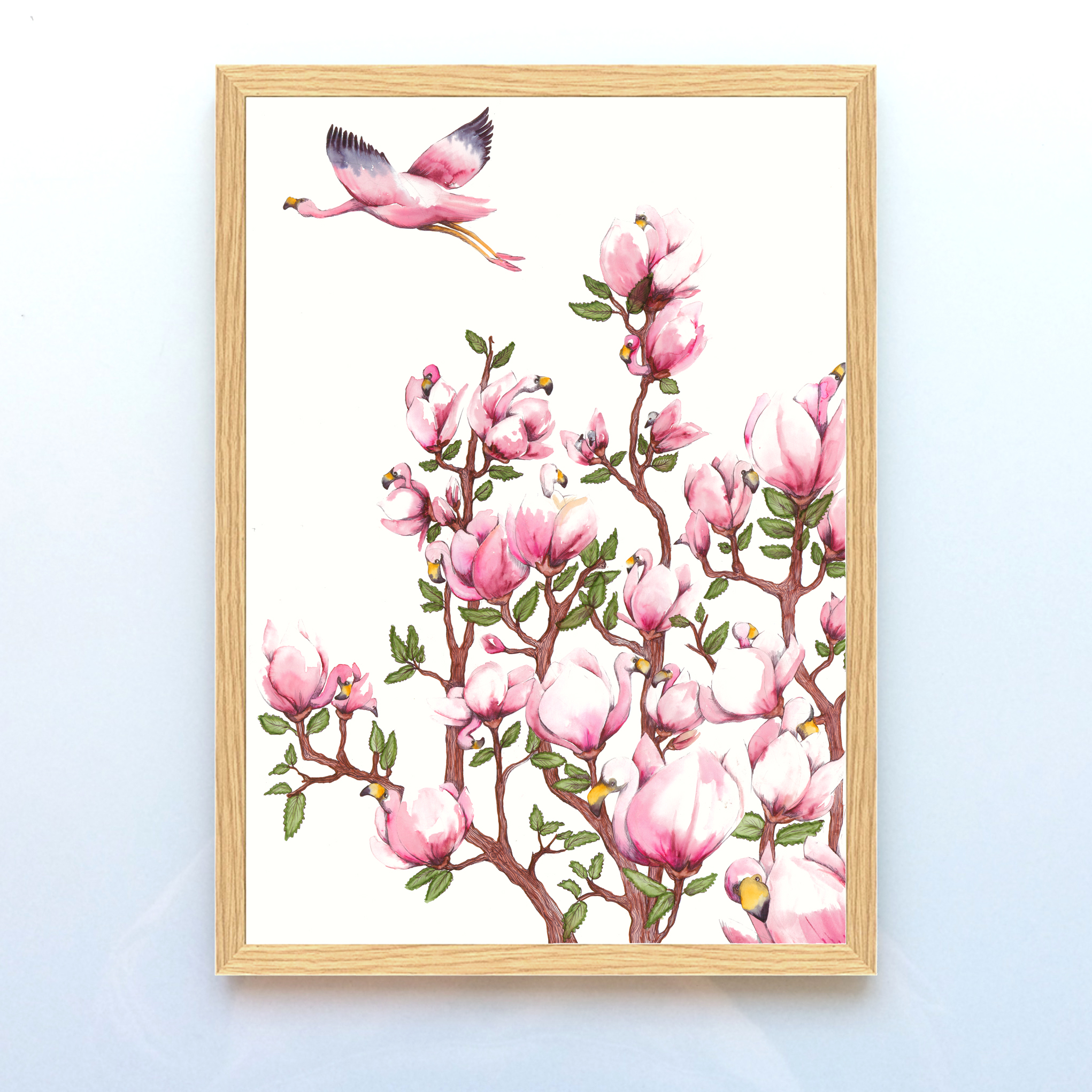 Flying magnolia A3 i ramme.jpg