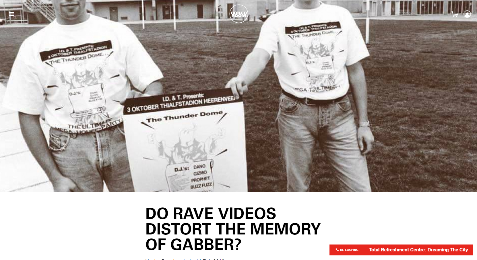 Do rave videos distort the memory of Gabber?