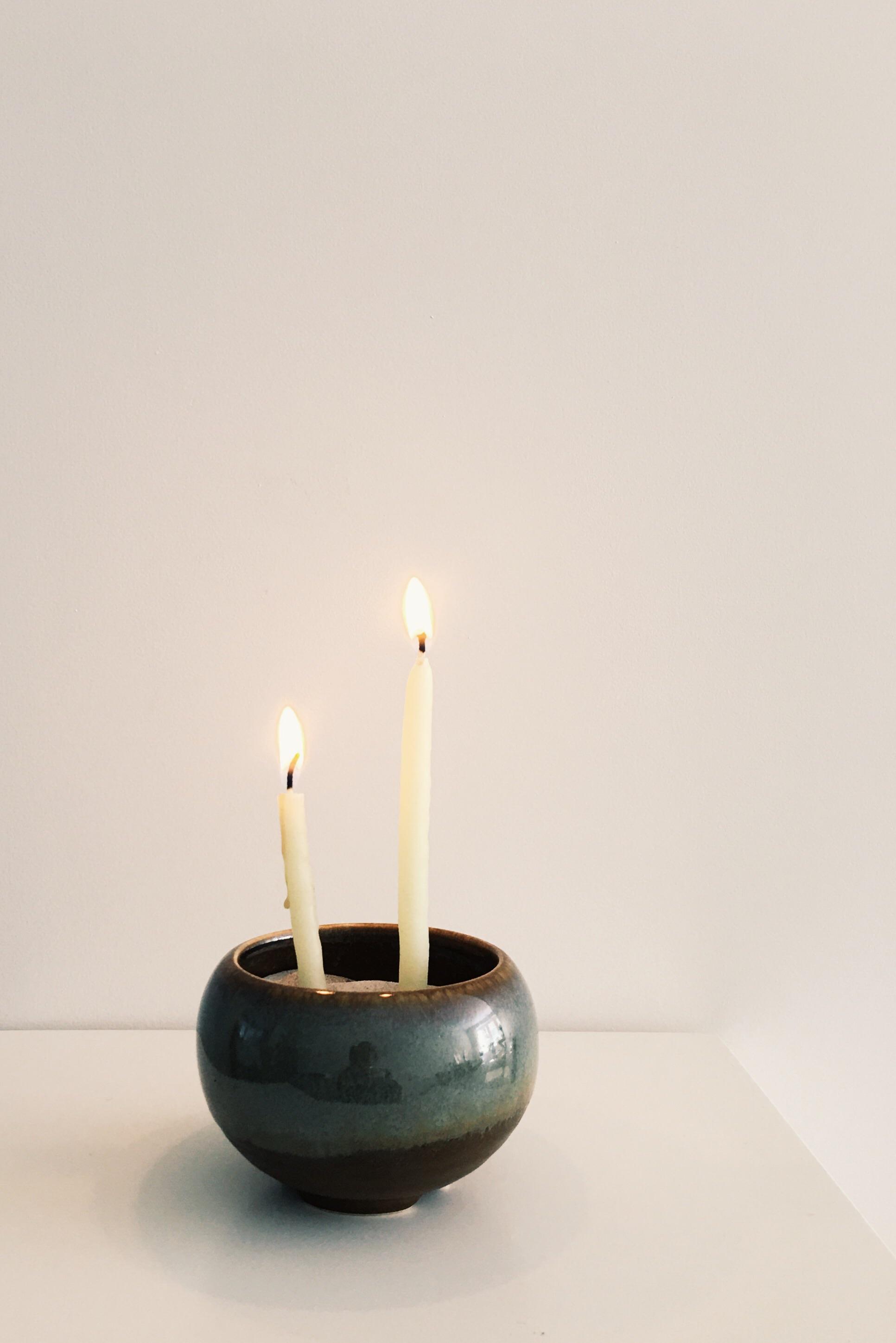 Incense bowl shoyeido, burninglights prayer candle