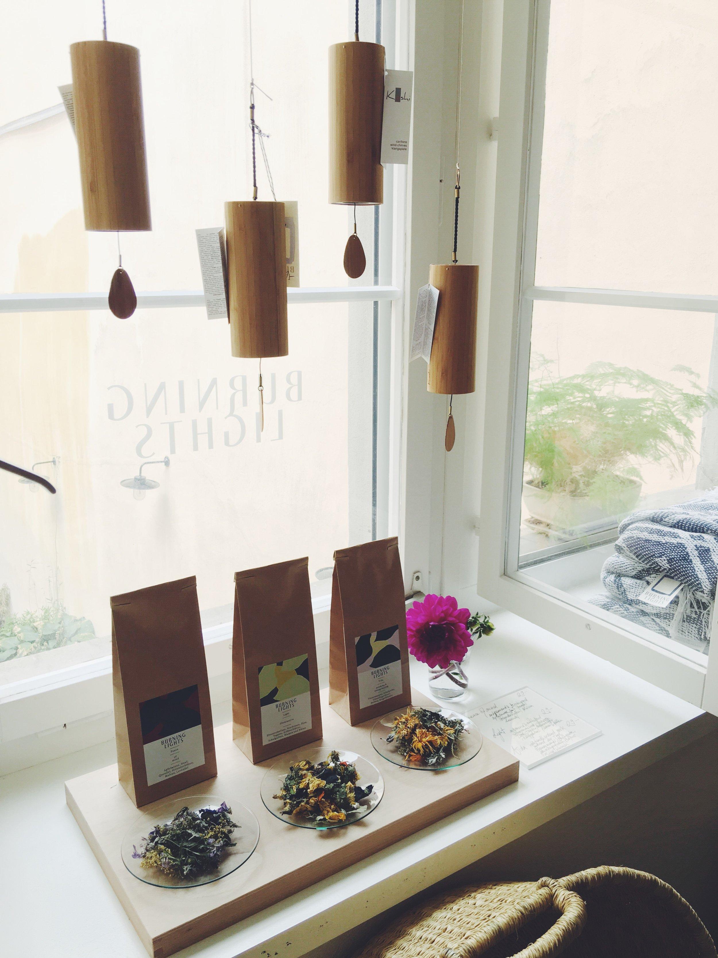 Tea Peace of mind, Light, Vida Burninglights, Koshi Chimes