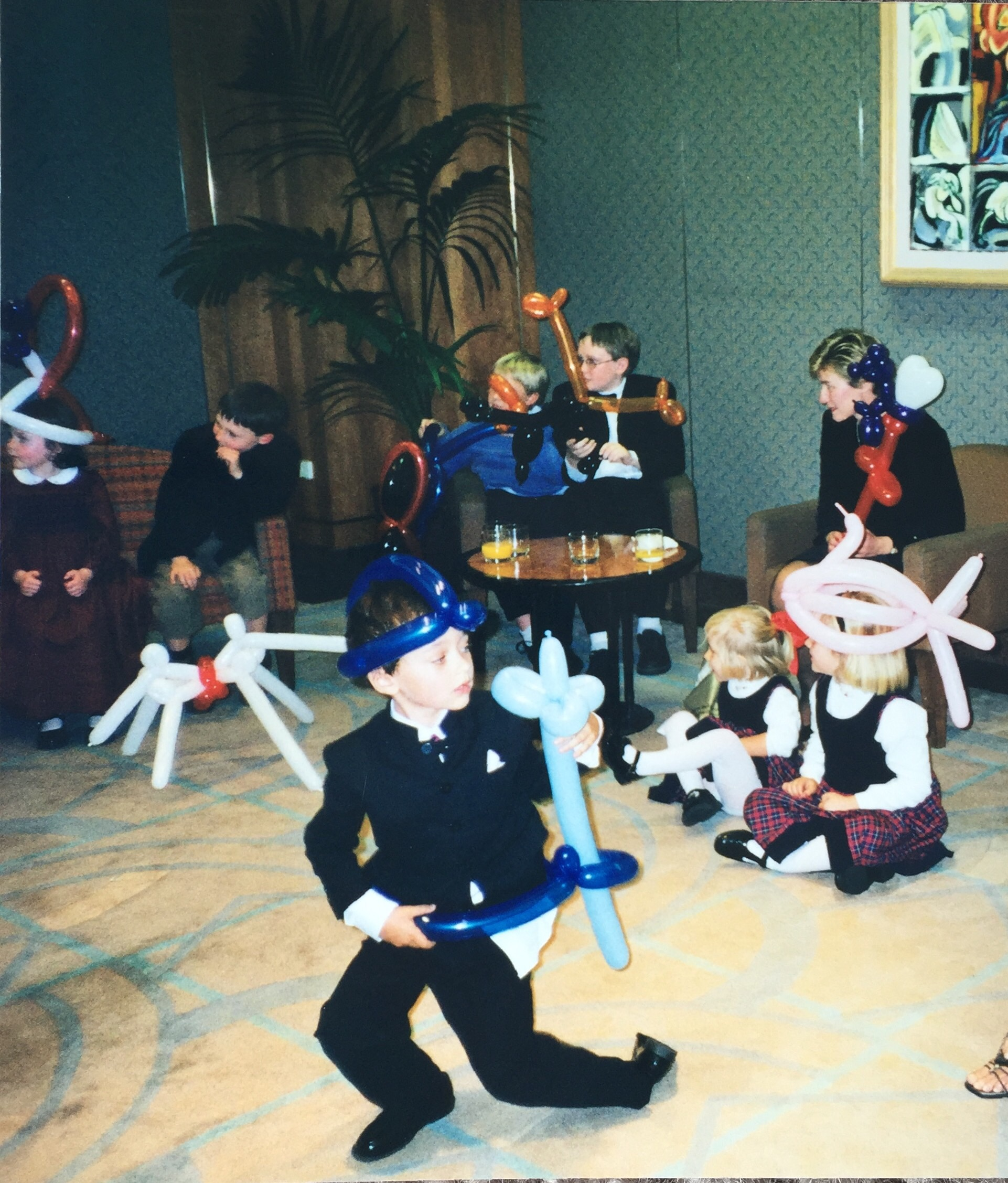 With apologies to Lauren, James, Sam, Robbie, Duncan, Emily and Kate (and my cousin Judy!) for unearthing this photo from so many years ago!
