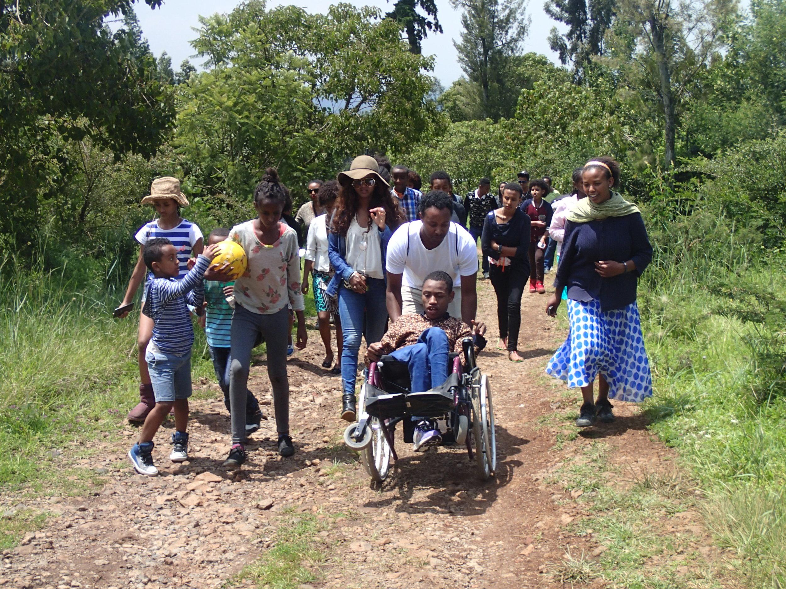 Brave Hearts' visit to Born Free wildlife preserve