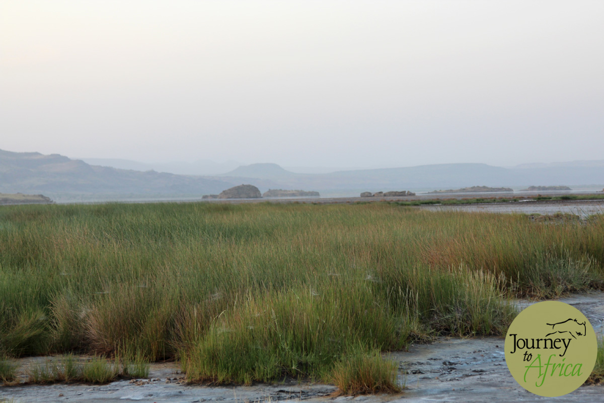 Glorious Lake Natron in the evening.