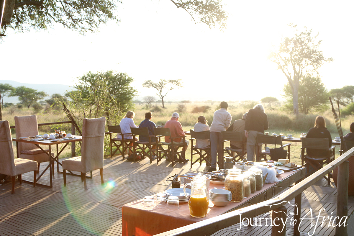 Serengeti breakfast Tanzania
