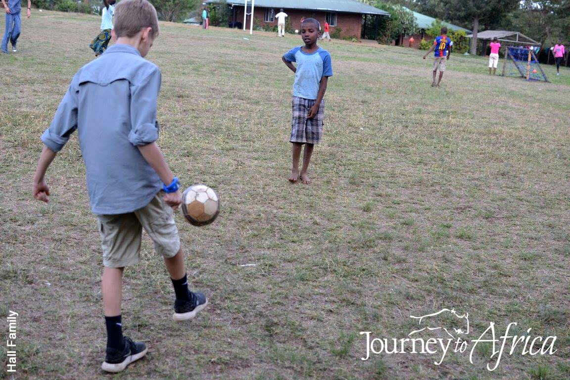 Our client enjoying a game of soccer with the kids. Fun times for everyone.