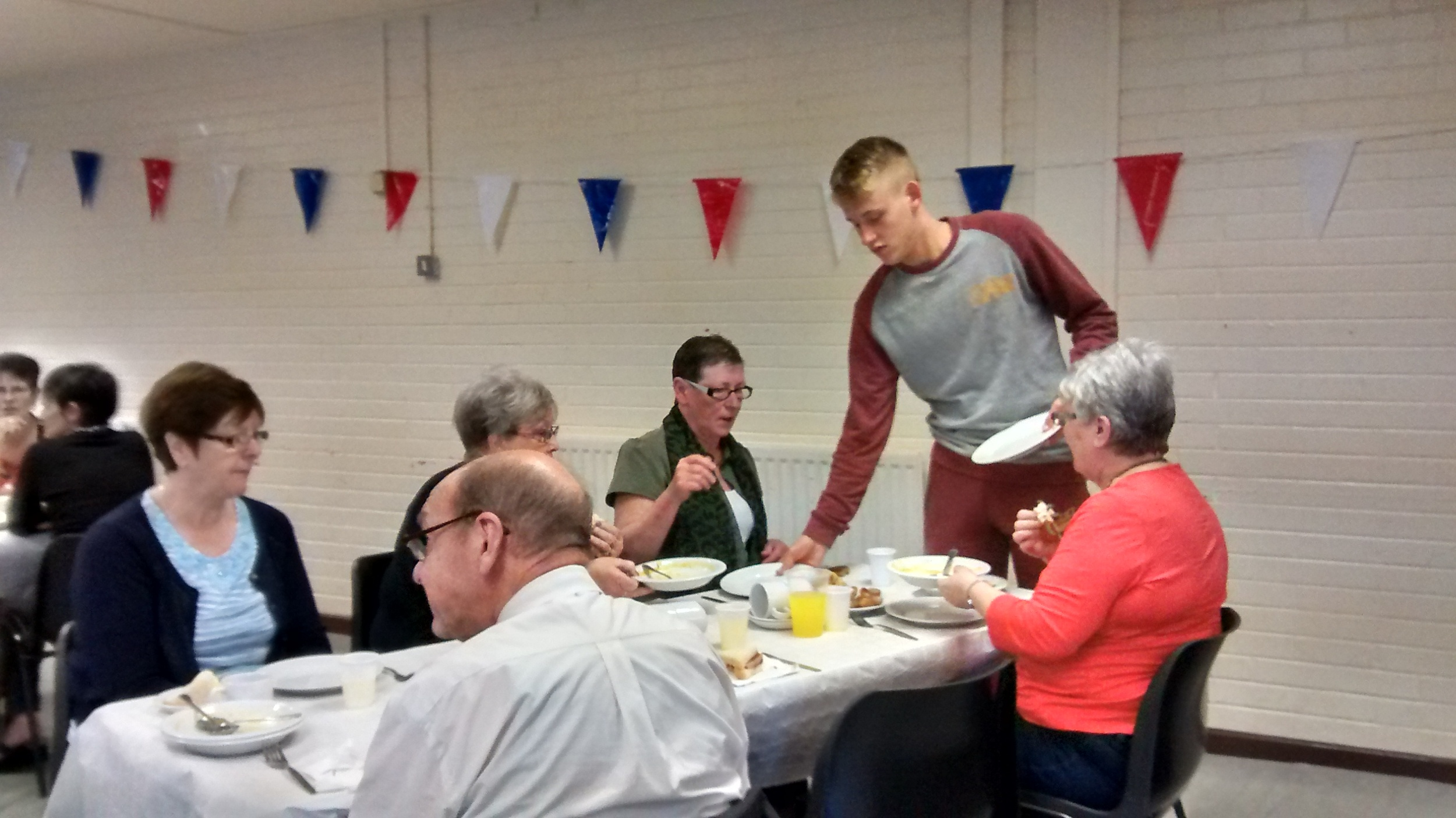 Young people hosted an intergenerational tea party