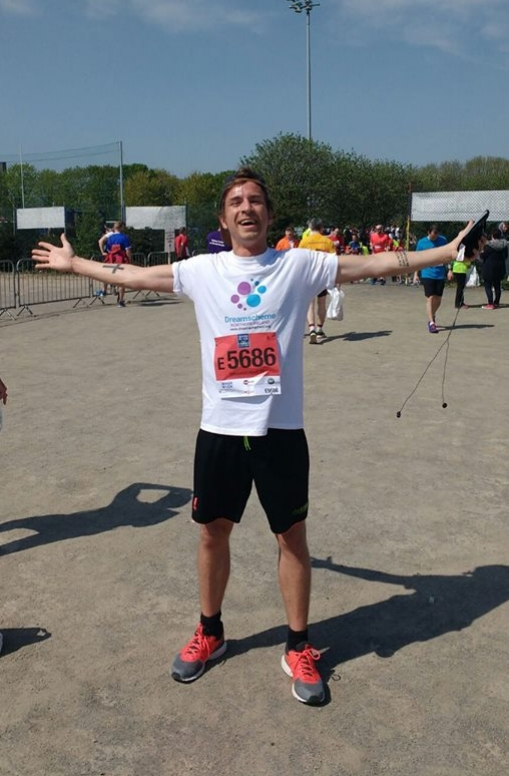 May  - Our very own Stephen McCombe looking very relieved as he crossed the finish line!
