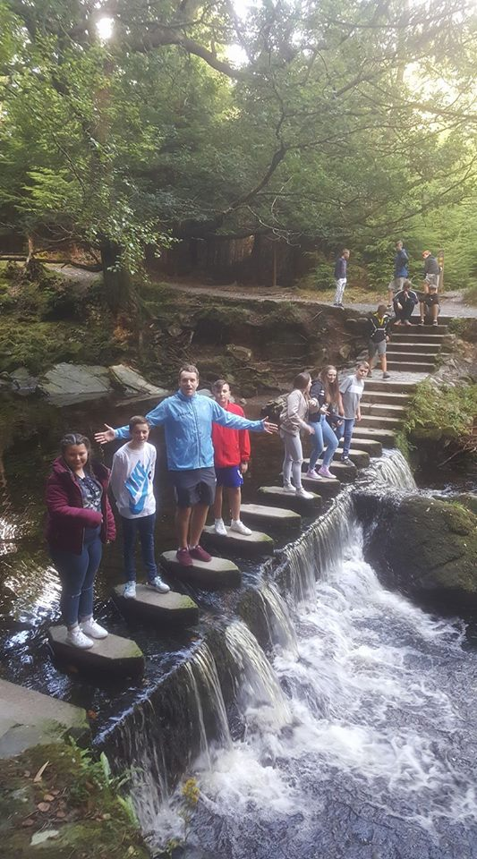 August  - What better way to wake up during our  summer   residential    than a trek through Tollymore Forest?