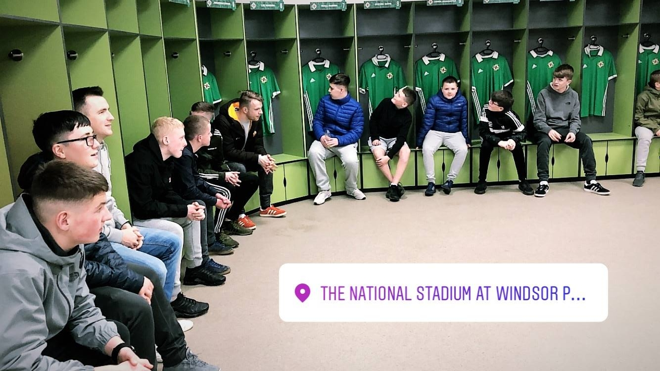 Young people enjoy tour of National Stadium at Windsor Park