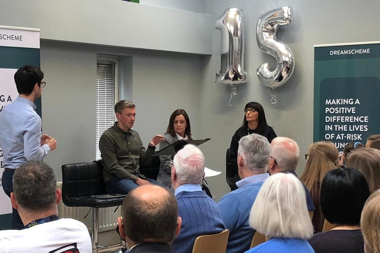 Mark McFeeters (University of Ulster), Gillian Scott (Breda Academy) and Lizzie Brown (Dreamscheme) discuss emerging youth needs