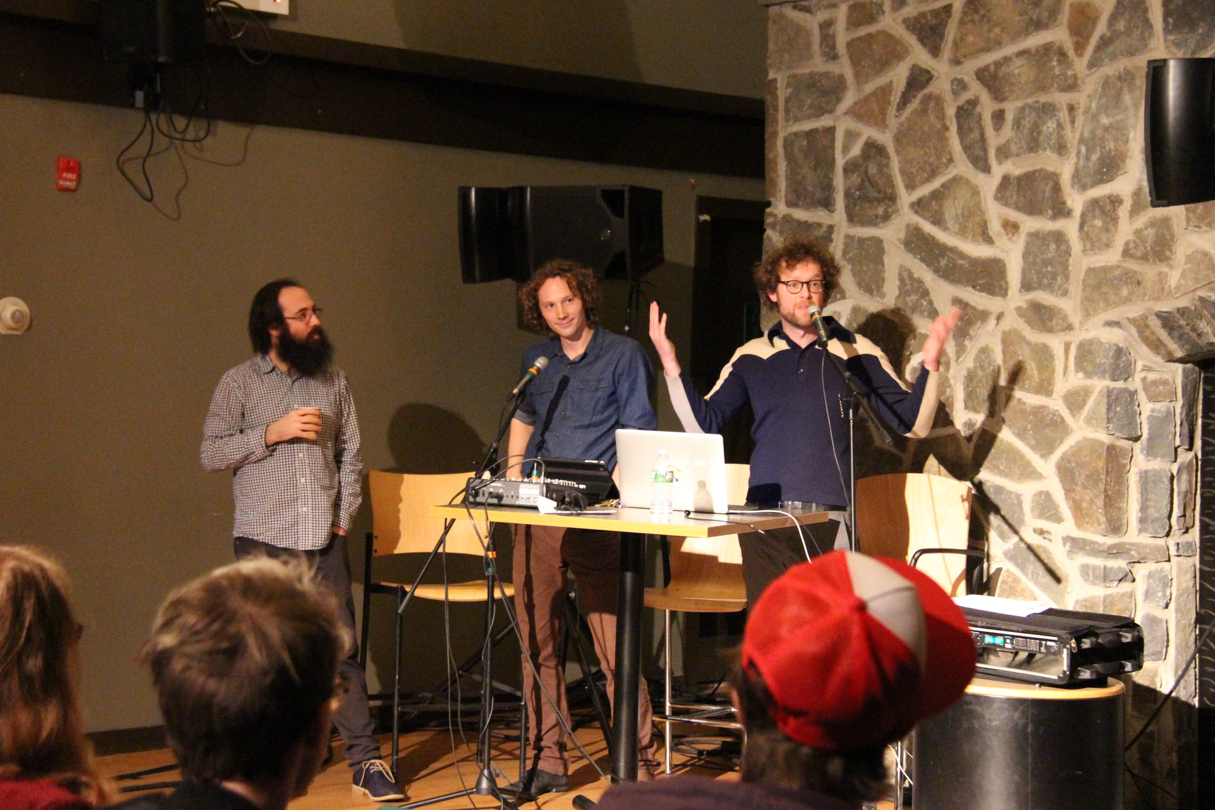 Adam Tinkle (MDOCS/MFS faculty), Sam Harnett, and Chris Hoff