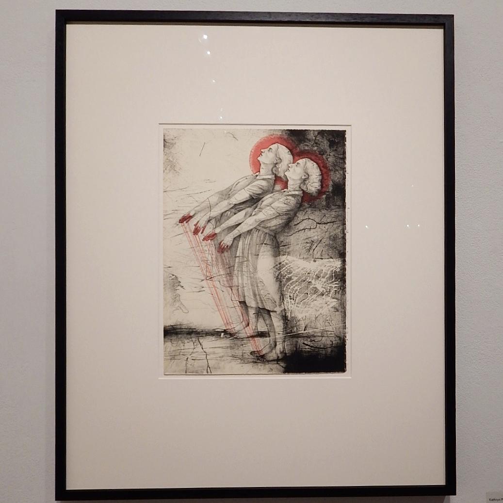 Kathryn Polk,  Beside Myself , Lithograph, 2014