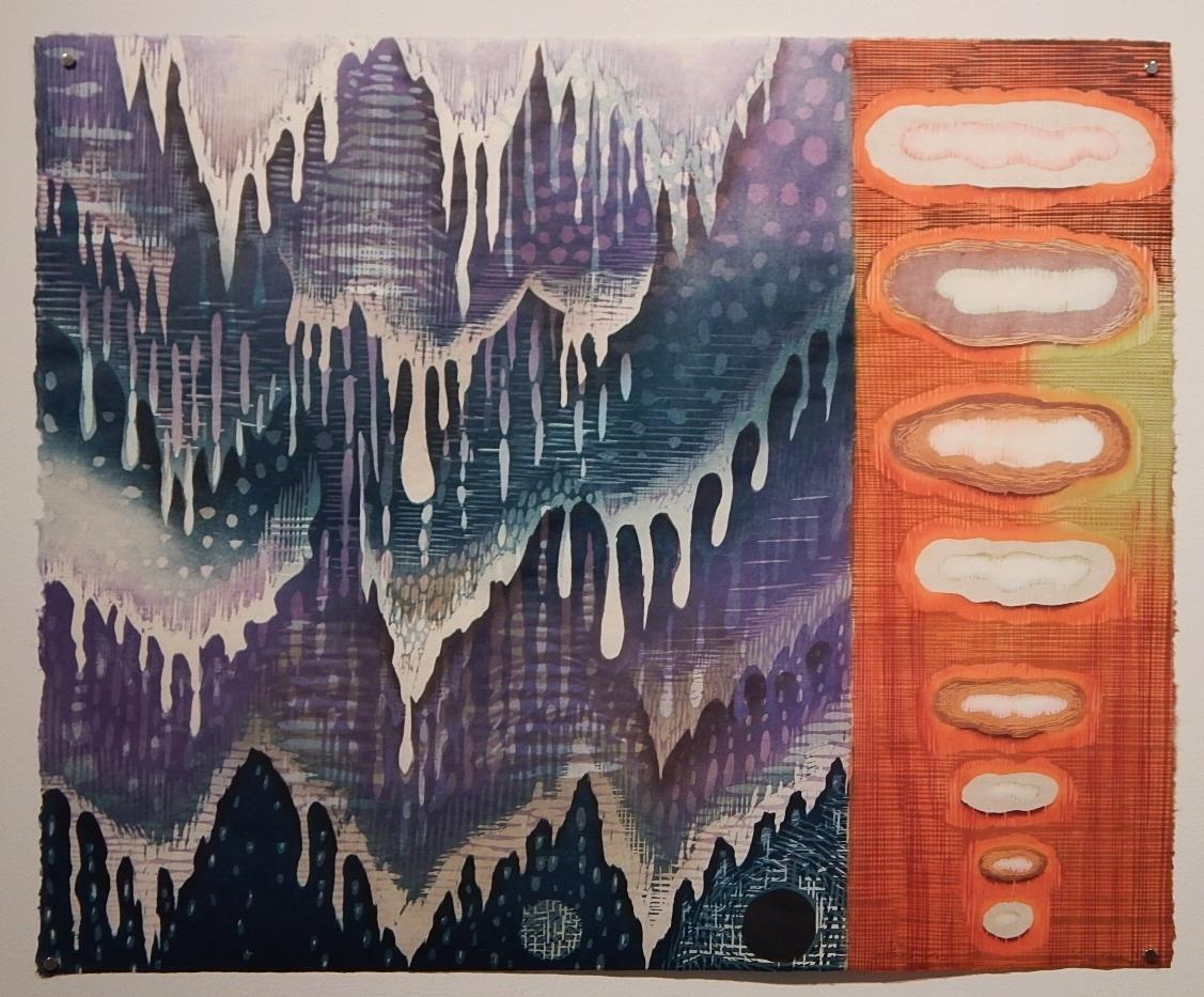 Karen Kung,  As if, As Though , Woodcut, 2012