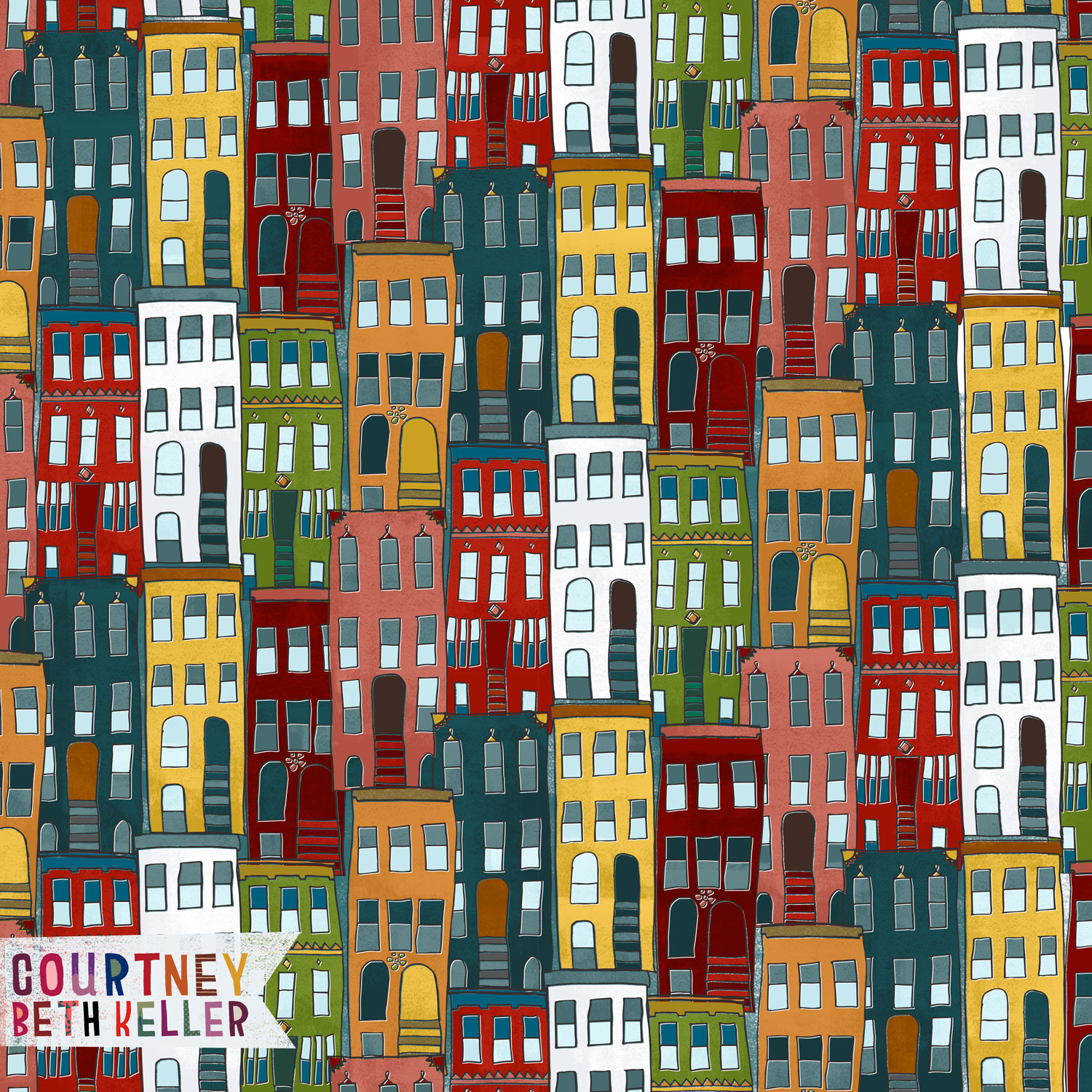 Brownstone Pattern ©2016 courtney beth keller