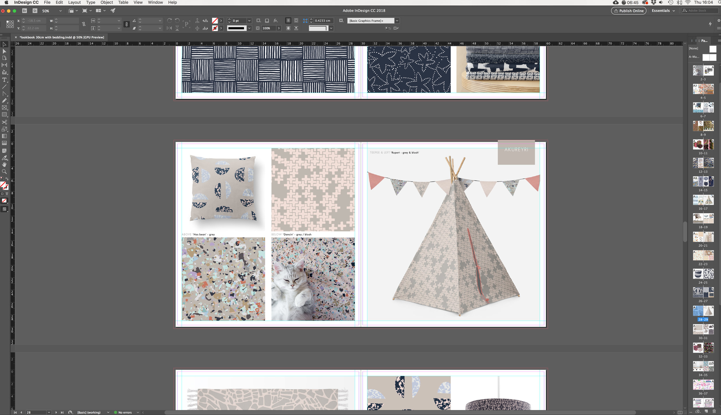 Designing my Heimtextil lookbook using InDesign