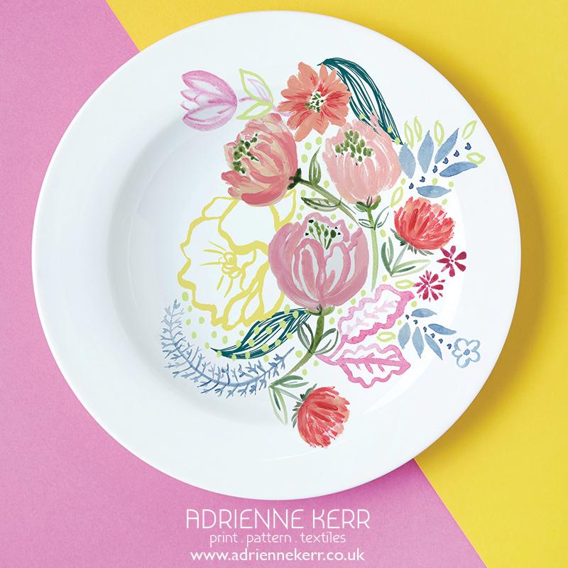 Adrienne Kerr_Floral Plate.jpg