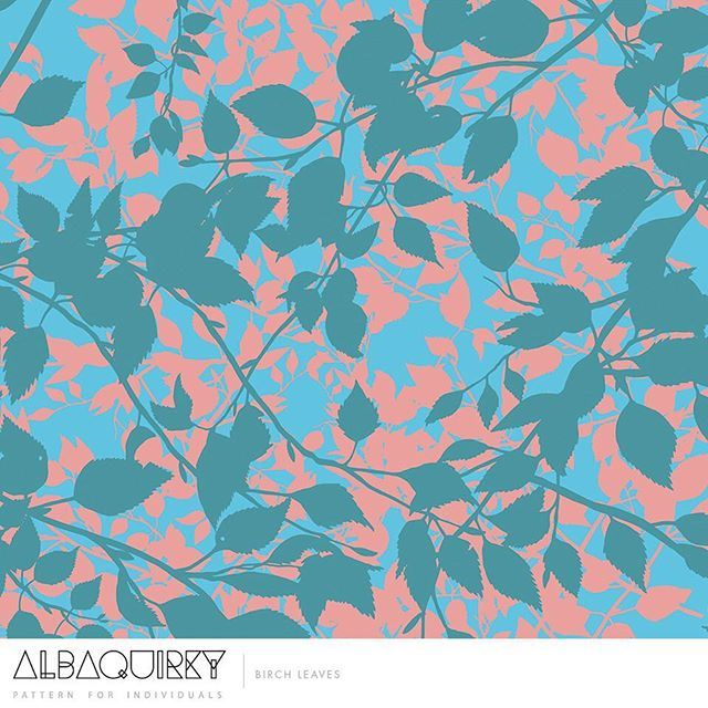 Pretty spring leaves from our @albaquirkydesigns 🌿#printandpattern #surfacepattern #pattern #artlicensing #surfacedesign