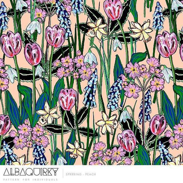 It is looking a lot like spring over on our @albaquirkydesigns feed! #spring #floral #pattern #patterndesign #printandpattern #artlicensing