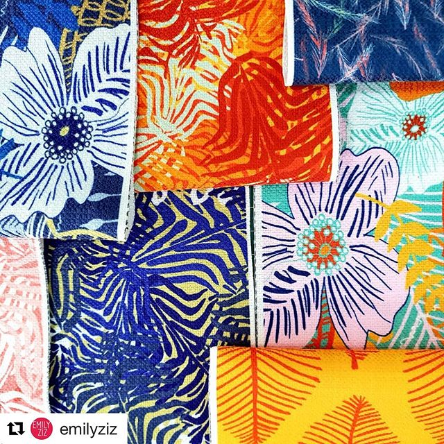 Look 👀 what popped up on the @emilyziz insta feed yesterday, bright coloured tropical interior prints from @adrienne_kerr, funky and bright pops of fabric colour from The Natural Jungle Print and Pattern Collection #fabric #fabrics #print #pattern #thenaturaljungle #upholstery #interior_and_living #interiordesign #interiors #interiordecorating #sunshinecolours #summervibes #summerfabric #adrienne_kerr #designer #artist