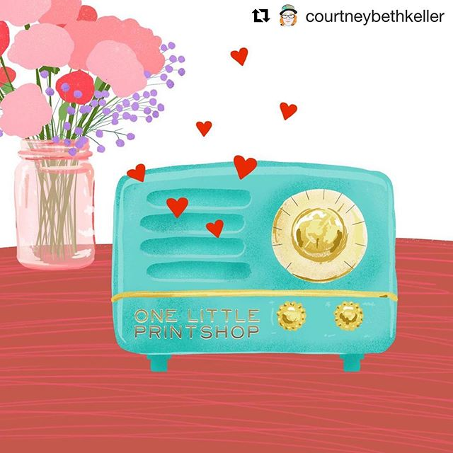 #Repost @courtneybethkeller with @get_repost ・・・ Here's a peek at a new Love Note illustration I'm working on! #printandpattern #finchandfoxglove #olpsli #finchandfoxglovefb  #illustrationartists #printandpattern #onelittleprintshop #floralillustration #musicillustration #vintageradio #coloradodesigner #freelanceillustrator #courtneybethkeller #lovenote