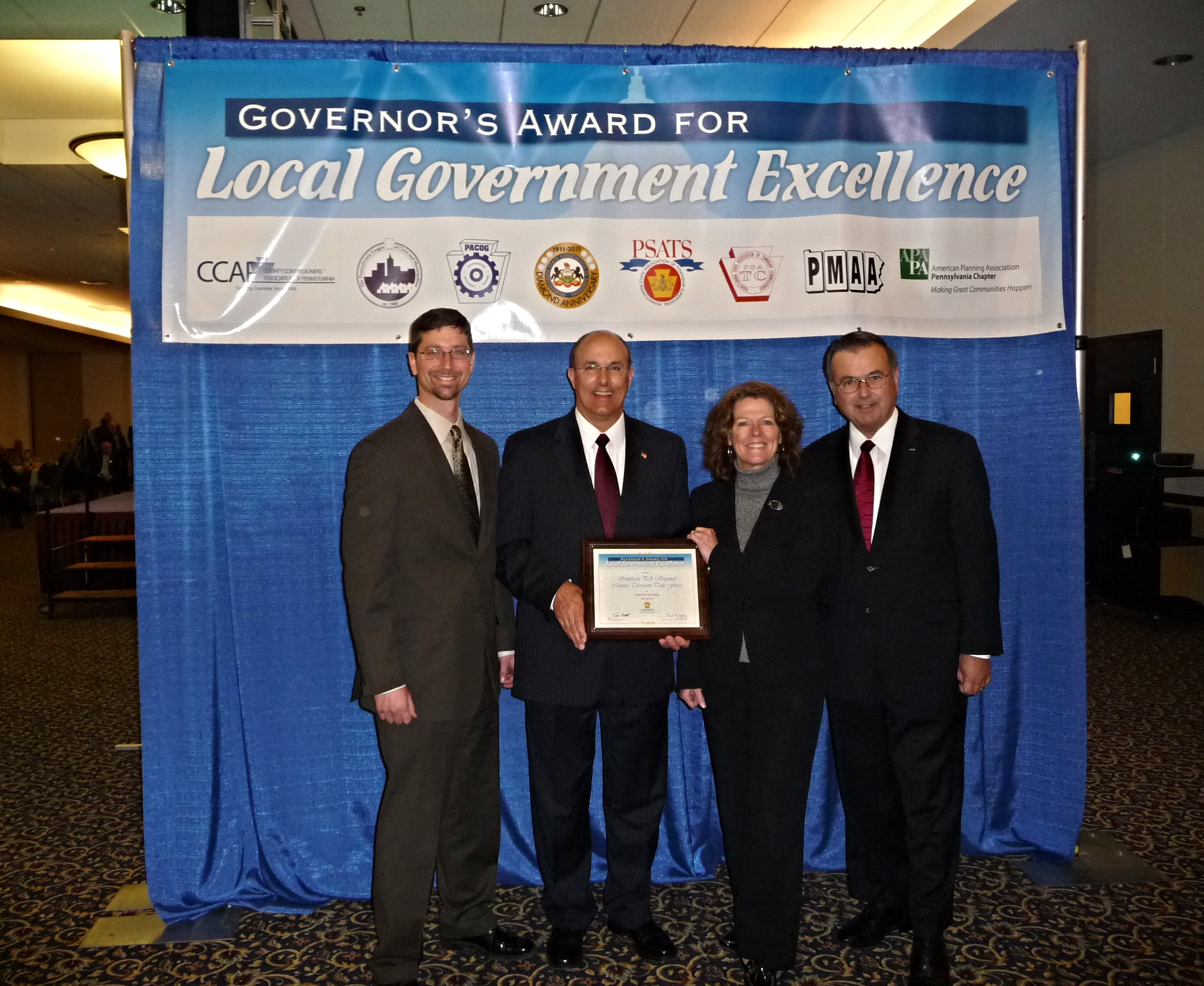 The Commonwealth of Pennsylvania presented GeoDecisions LEJIS team an Award for Local Government Excellence in 2011 in the Information Technology category.