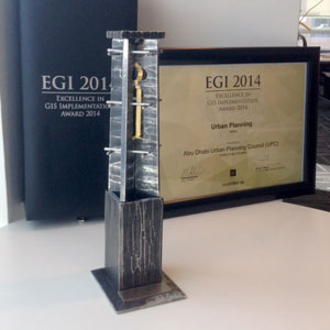 Abu Dhabi UPC Excellence in GIS Implementation 2014 Award
