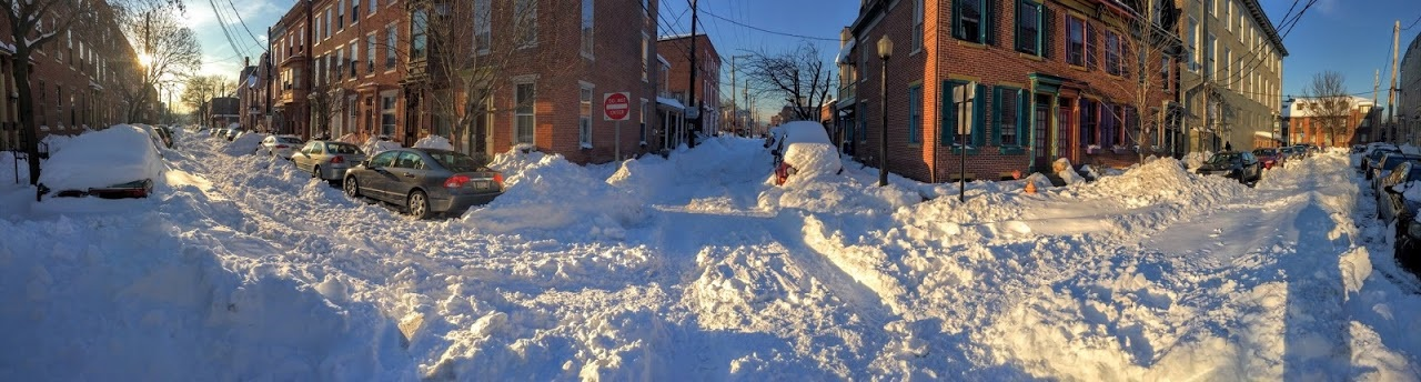 Midtown Harrisburg is depicted during Winter Storm Jonas 2016, photo courtesy of GeoDecisions Application Developer Christopher Bley.