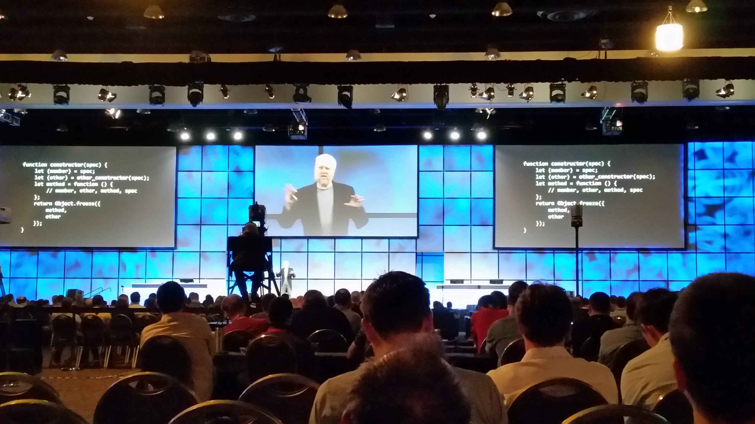 Douglas Crockford presenting at Esri DevSummit