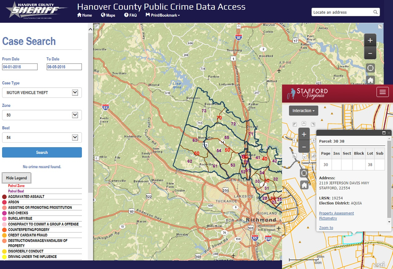 Desktop-accessible or mobile-ready, GeoDecisions applications help Virginia clients keep citizens informed, from providing public safety to property assessment and tax collection business data.